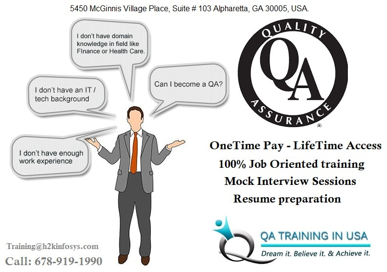 Quality Assurance Online Training in USA