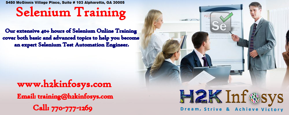 Selenium Online Training in USA by H2kinfosys