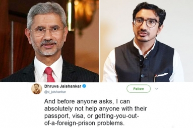 New Foreign Minister's Son Dhruva Jaishankar Says He Can't Help with Passport Woes in Cheeky Tweet