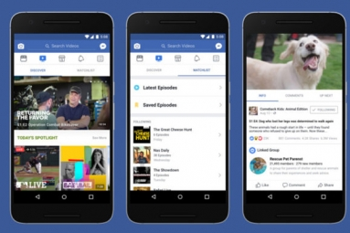 Facebook Launches Watch, Competitor to YouTube